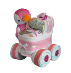 "☆ Windelkinderwagen XL-Reifen ""Pinguin"" rosa ☆"