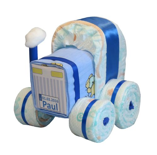 ☆ Mini Windeltraktor in blau ☆